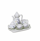 Andrea by Sadek Lavender Porcelain Miniature Tea Set