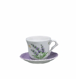 Andrea by Sadek Lavender Child's Cup & Saucer Sets (4)
