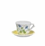 Andrea by Sadek Yellow Polka Dot Child's Cup & Saucer Sets (4)