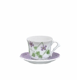 Andrea by Sadek Violet Polka Dot Child's Cup & Saucer Sets (4)