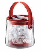 Bodum Cool Double Wall Glass Ice Bucket - Red