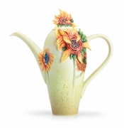 Franz Porcelain Collection Van Gogh Sunflowers Teapot