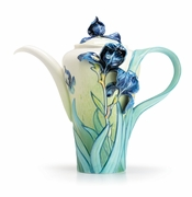 Franz Porcelain Collection Van Gogh Iris Flower Teapot