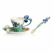 Franz Porcelain Collection Van Gogh Iris Flower Spoon