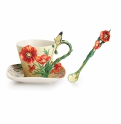 Franz Porcelain Collection Van Gogh Poppy Flower Spoon