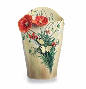 Franz Collection Porcelain Van Gogh Poppy Flowers Vase