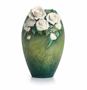 Franz Porcelain Collection Van Gogh White Roses Vase