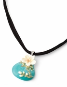 Franz Porcelain Collection Van Gogh Almond Flowers Necklace