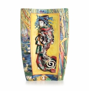Franz Porcelain Collection Van Gogh The Courtesan Design Sculptured Porcelain Large Vase