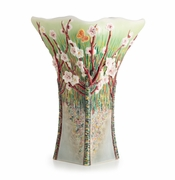Franz Porcelain Collection Van Gogh Almond Tree In Blossom Design Sculptured Porcelain Large Vase