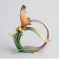 "Franz Collection ""Papillon"" Butterfly Napkin Rings (4)"