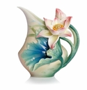 Franz Porcelain Collection Lotus Harmony Design Sculptured Porcelain Creamer