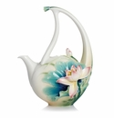 Franz Porcelain Collection Lotus Harmony Design Sculptured Porcelain Teapot