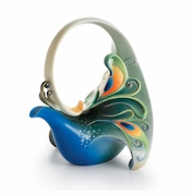 "Franz Collection Kathy Ireland ""Luminescence"" Peacock Teapot"