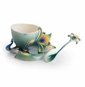 "Franz Collection Kathy Ireland ""Luminescence"" Cup, Saucer & Spoon Set"