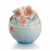 Franz Collection Kathy Ireland Cherry Blossom Sugar Jar with Lid