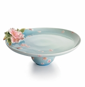Franz Kathy Ireland Cherry Blossom Collection Cake Plate