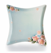 Franz Kathy Ireland Cherry Blossom Collection Square Plate