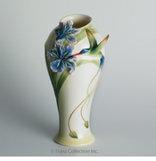 "Franz Collection Long Tail Hummingbird 10"" Vase"