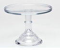 "Mosser Glass 9"" Footed Cake Plate - Crystal"