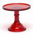 "Mosser Glass 6"" Footed Cake Plate - Red"