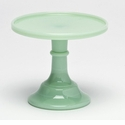 "Mosser Glass 6"" Footed Cake Plate - Jade"