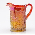 Mosser Glass Maple Leaf Pitcher - Marigold
