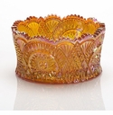 Mosser Glass Diamond Bowl - Marigold
