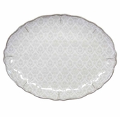 Le Cadeaux Melamine Louis Antique White Large Coupe Oval Platter