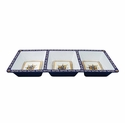 Le Cadeaux Melamine Malaga Three Section Tray