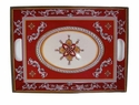 "Le Cadeaux Malaga Red 15"" x 21"" Serving Tray"