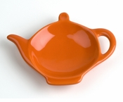 Classic Solid Color Tea Bag Holder Caddies - Orange (6)