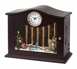 Mr. Christmas Gold Label Animated Skaters Musical Chime Clock