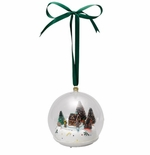 Mr Christmas Glass Gingerbread House Scene Musical Ornament