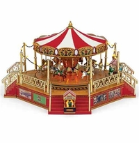 Mr. Christmas World's Fair Carousel with Boardwalk NEW!