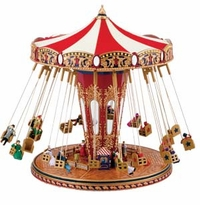 Mr. Christmas Gold Label World's Fair Animated Musical Swing Carousel