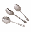 Ornate Silver Plated Serving Spoons - Set of Three