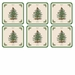 Pimpernel Spode Christmas Tree Coasters Set of 6