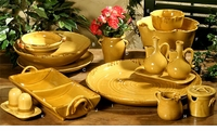"Intrada Italy Provenza Yellow Cream & Sugar Set 4""H"