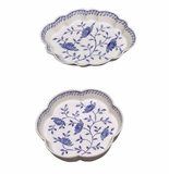 Andrea by Sadek Assorted Scallop Dishes Blue in Bloom (4)