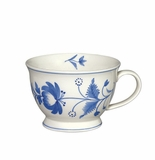 Andrea by Sadek Adams Rose Mugs (Set of 4) - Blue