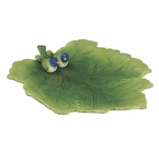Andrea by Sadek Leaf Dish With Bunting Bird
