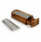Enrico Acacia Wood Cheese Grater with Hard & Soft Blades