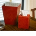 Dessau Home Burnt Orange Croc Waste Basket