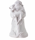 Vietri Bellezza Holiday Medium Santa with Fawn & Birds Centerpiece