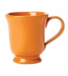 Vietri Fantasia Orange Footed Mug