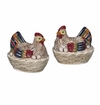 Andrea by Sadek Nesting Hen Salt and Pepper Shakers