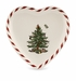 Spode Christmas Tree Peppermint Heart-Shaped Canape Plate