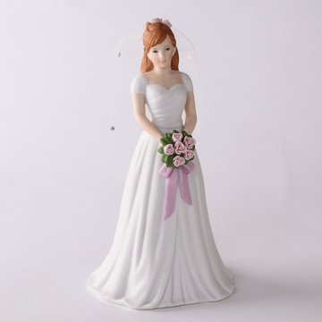 Enesco Growing Up Girls Brunette Bride Figurine