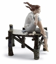 Lladro Sunset At The Pier Figurine